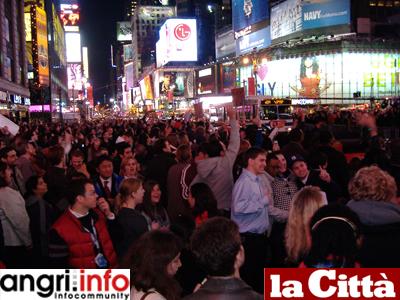 Vittoria di Obama: festeggiamenti in Times Square