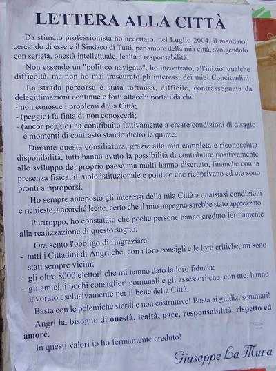 Manifesto Giuseppe La Mura