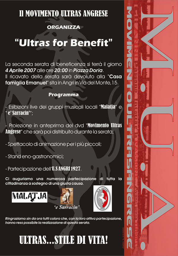 ultras for benefit