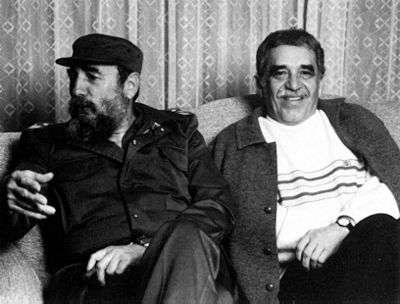 Gabriel Garcìa Marquez con Fidel Castro