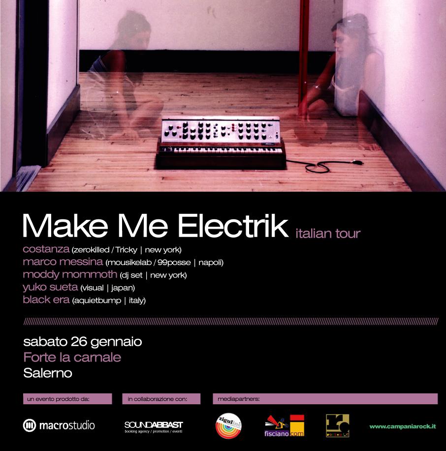 MAKE ME ELECTRIK ITALIAN TOUR