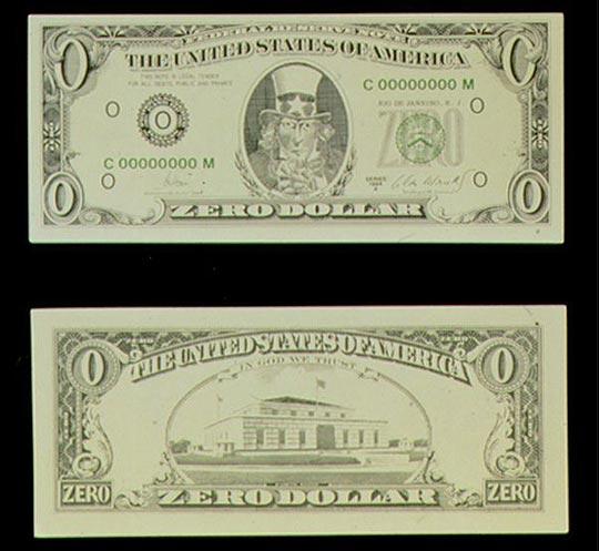 I dollari di Cildo Meireles