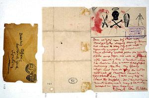 Lettera firmata da Jack lo Squartatore