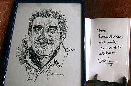 Autografo di Gabriel Garcìa Marquez