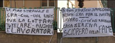 protesta lavoratori casa serena angri